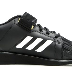 ADIDAS WEIGHTLIFTING SHOES POWER PERFECT III Black/White/Matte Gold